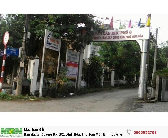 Bán đất tại Đường DX 062, Định Hòa, Thủ Dầu Một, Bình Dương diện tích 190.0m2 giá 8.8 Triệu/m²