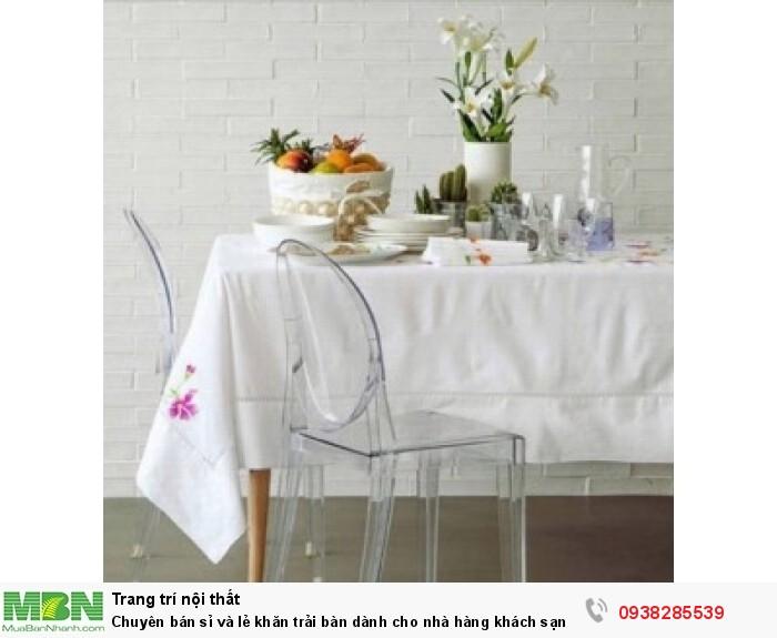 Chuyên bán sỉ và lẻ khăn trải bàn dành cho nhà hàng khách sạn