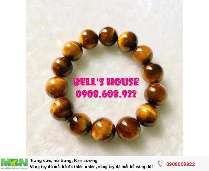 Vòng tay đá mắt hổ đỏ thiên nhiên, vòng tay đá mắt hổ vàng thiên nhiên phong thủy Bell's House TPHCM,0