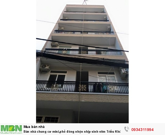 Bán nhà chung cư mini,phố đông nhộn nhịp sinh viên Triều Khúc  -Thanh Xuân(95m2*7tầng)cầu thang máy