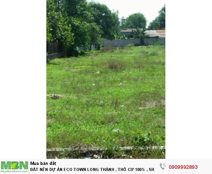 Đất Nền Dự Án Eco Town Long Thành , Thổ Cư 100% , Shr Từng Nền , Giá Gốc Cđt .