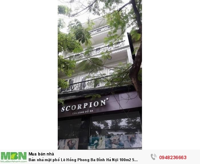 Bán nhà mặt phố Lê Hồng Phong Ba Đình Hà Nội 100m2 5 tầng mặt tiền 7,5m 50 tỷ