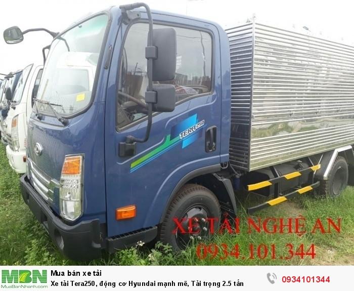 Xe tải Tera250, động cơ Hyundai mạnh mẽ, Tải trọng 2.5 tấn 1