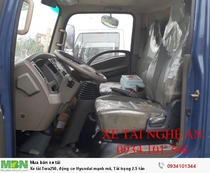 Xe tải Tera250, động cơ Hyundai mạnh mẽ, Tải trọng 2.5 tấn 3