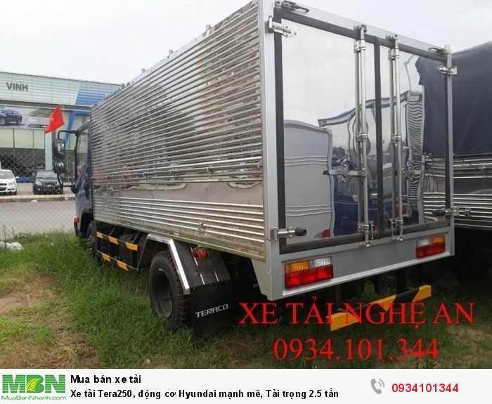 Xe tải Tera250, động cơ Hyundai mạnh mẽ, Tải trọng 2.5 tấn 4