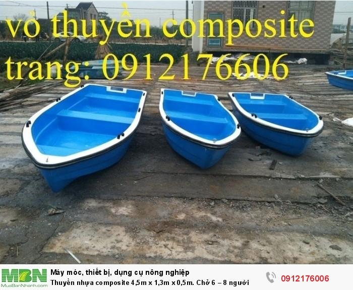Thuyền nhựa composite 4,5m x 1,3m x 0,5m tại sài gòn0