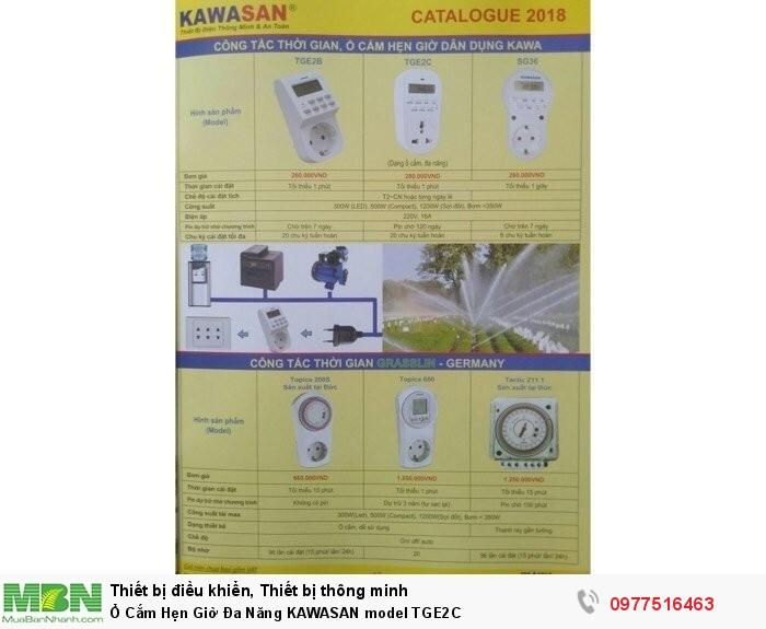 Ổ Cắm Hẹn Giờ Đa Năng KAWASAN model TGE2C
