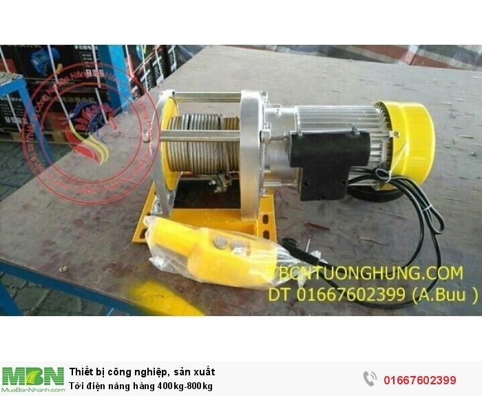 Tời điện nâng hàng 400kg-800kg