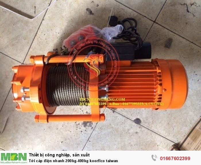 Tời cáp điện nhanh 200kg-400kg koorflco taiwan