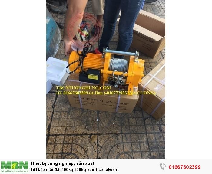 Tời kéo mặt đất 400kg-800kg koorflco taiwan