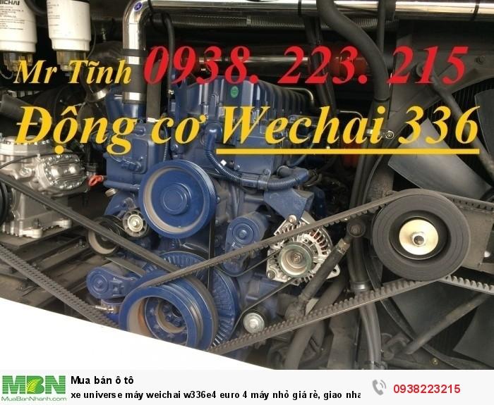 Xe Universe máy weichai w336e4 euro 4 máy nhỏ thaco 45 47 chỗ giá rẻ, giao nhanh, tiết kiệm dầu 3