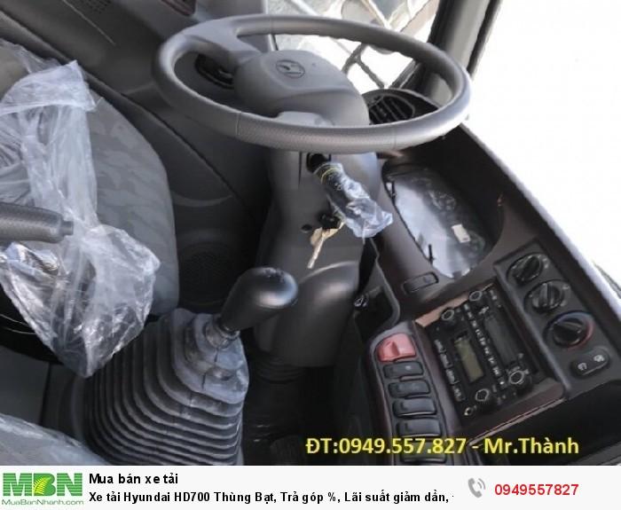 Xe tải Hyundai HD700 Thùng Bạt, Trả góp %, Lãi suất giảm dần, Đại Lý Ôtô Tây Đô