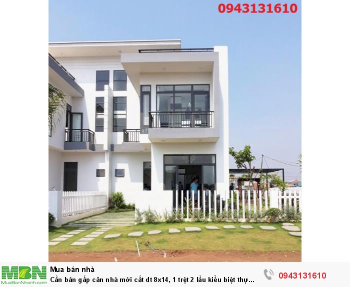 Cần bán gấp căn nhà mới cất dt 8x14, 1 trệt 2 lầu kiểu biệt thự mặt tiền Nguyễn Văn Tuôi giá 2,3tỷ thương lượng chính chủ có sổ riêng
