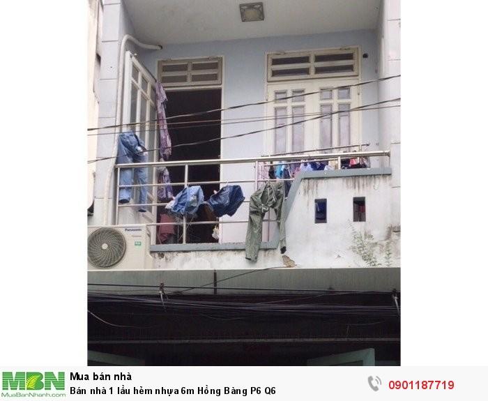 Bán nhà 1 lầu hẻm nhựa 6m Hồng Bàng P6 Q6