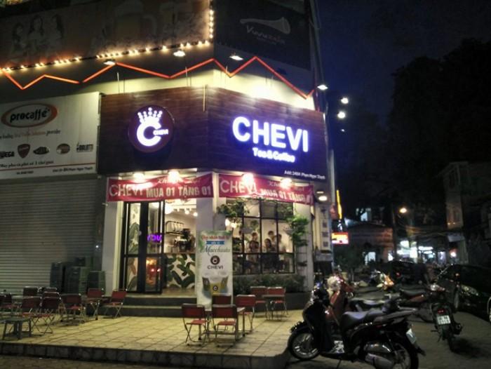 Sang nhượng quán trà sữa Chevi đẹp mê ly tại Gia Lâm