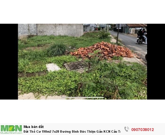 Đất Thổ Cư 198m2 7x28 Đường Đinh Đức Thiện Gần KCN Cầu Tràm Giá 1t4