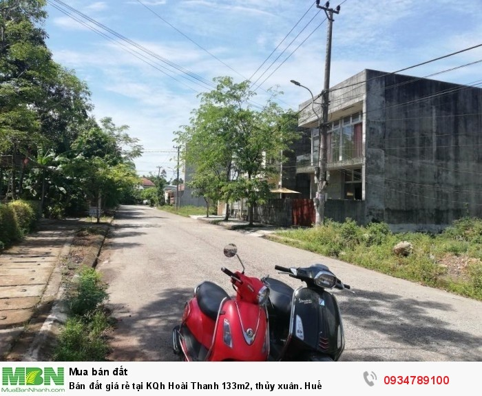 Bán đất giá rẻ tại KQh Hoài Thanh 133m2, thủy xuân. Huế