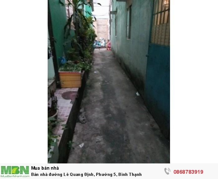 Bán nhà đường Lê Quang Định, Phường 5, Bình Thạnh