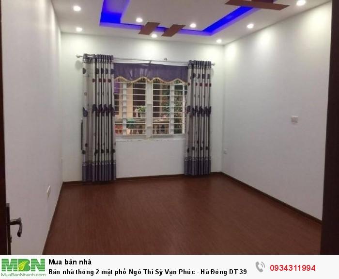 Bán nhà thông 2 mặt phố Ngô Thì Sỹ Vạn Phúc - Hà Đông DT 39m2