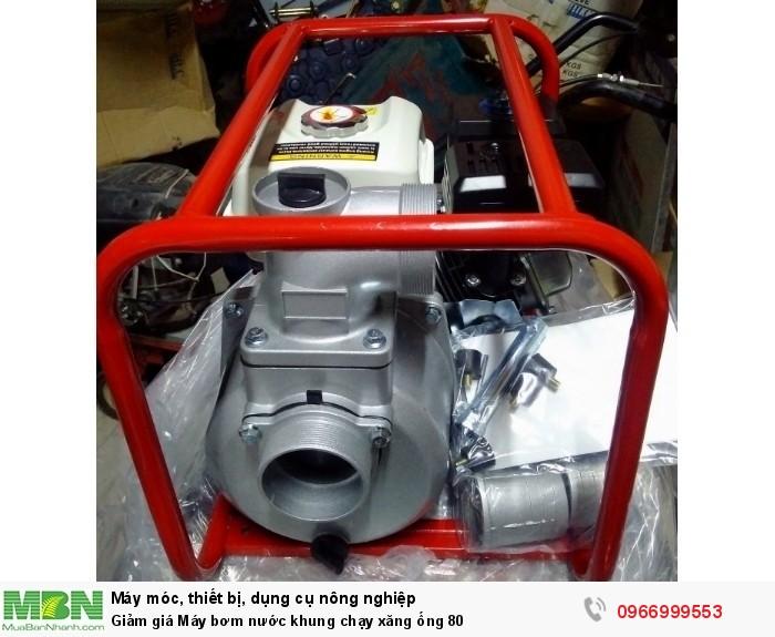Giảm giá Máy bơm nước khung chạy xăng ống 800