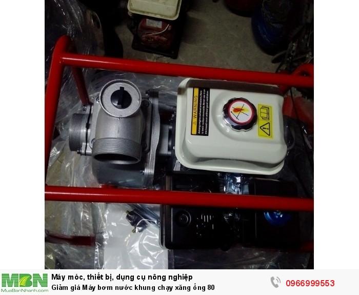 Giảm giá Máy bơm nước khung chạy xăng ống 801