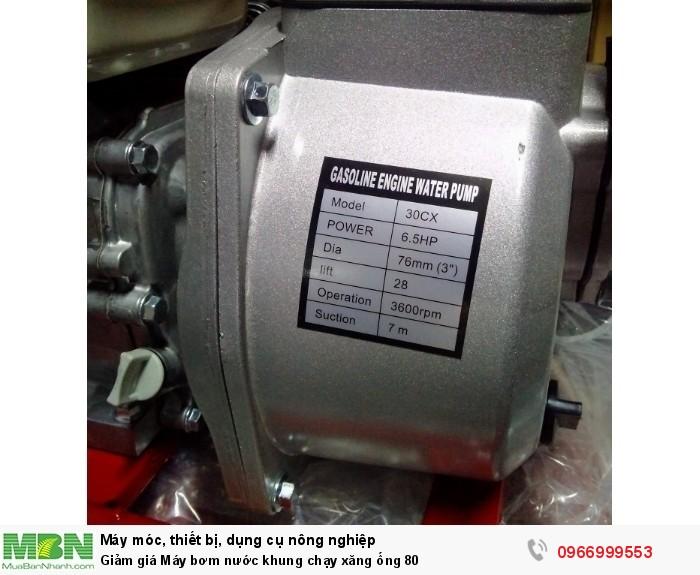 Giảm giá Máy bơm nước khung chạy xăng ống 803