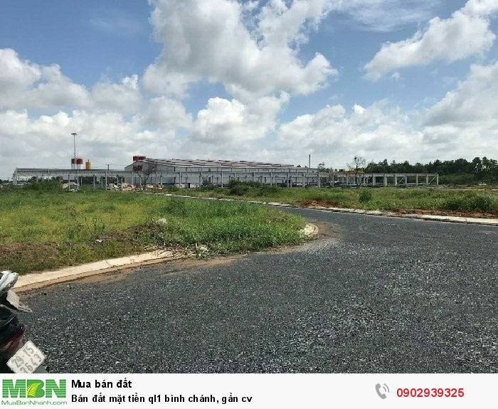 Bán đất mặt tiền ql1 Bình Chánh, gần cv