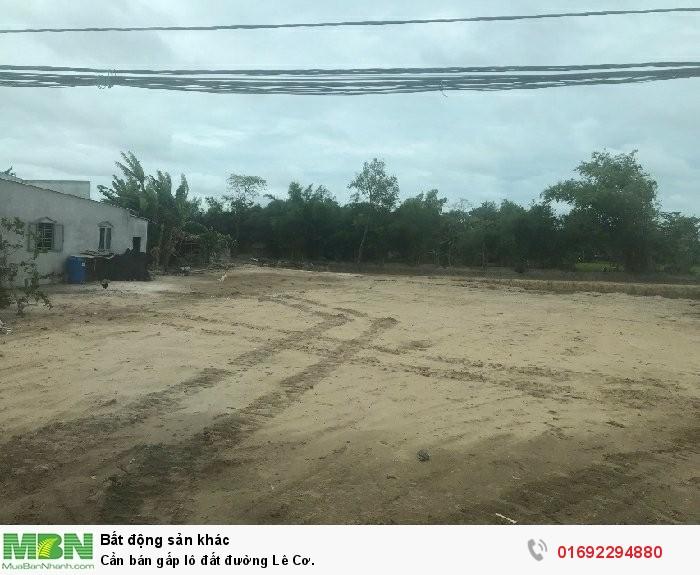 Cần bán gấp lô đất đường Lê Cơ.