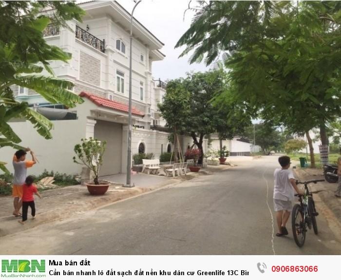 Cần bán nhanh lô đất sạch đất nền khu dân cư Greenlife 13C Bình Chánh, giá 35tr/m2, 85m2