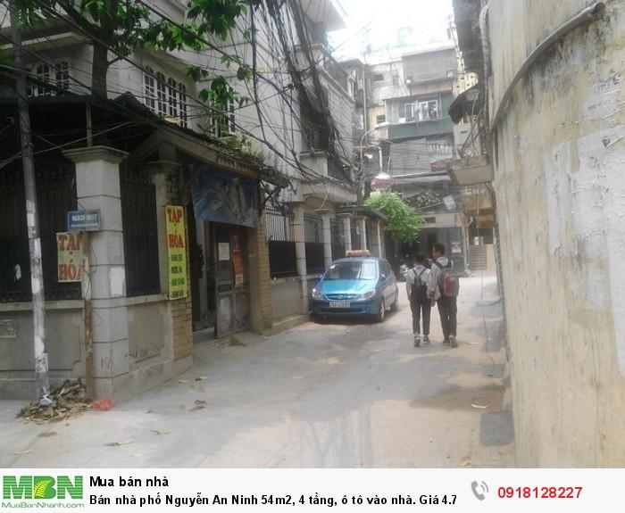 Bán nhà phố Nguyễn An Ninh 54m2, 4 tầng, ô tô vào nhà. Giá 4.75tỷ