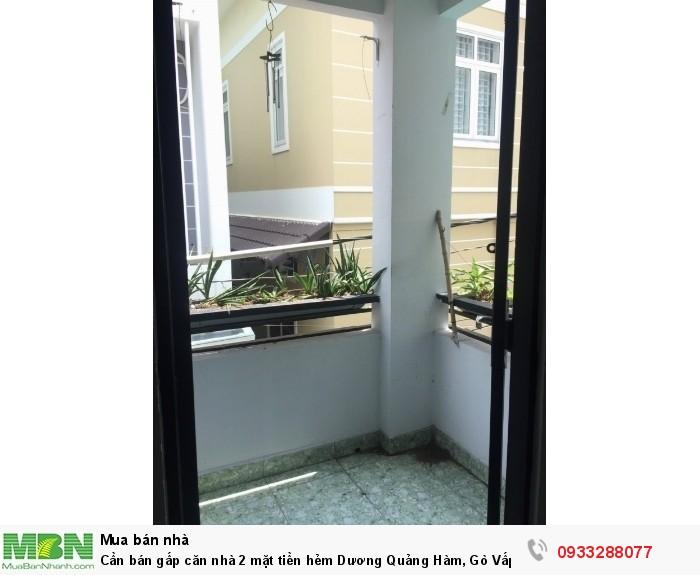 Cần bán gấp căn nhà 2 mặt tiền hẻm Dương Quảng Hàm, Gò Vấp