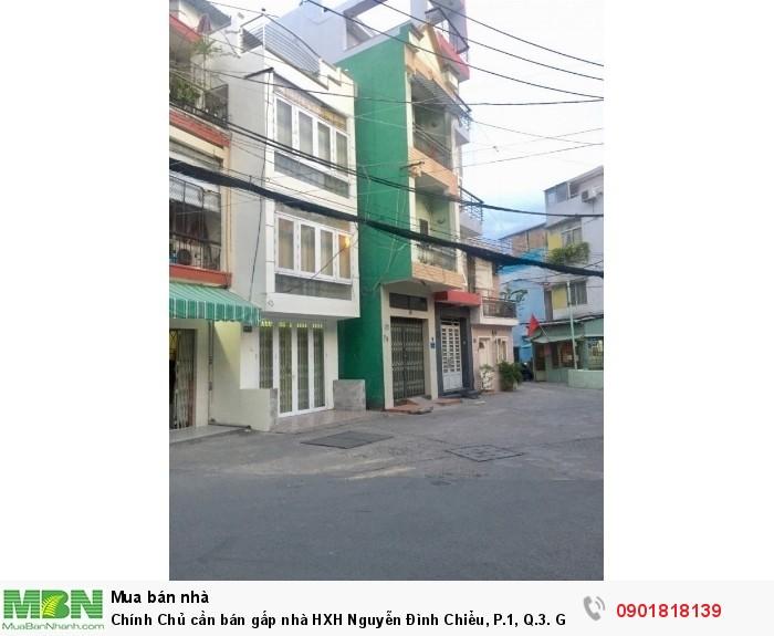 Chính Chủ cần bán gấp nhà HXH Nguyễn Đình Chiểu, P.1, Q.3.