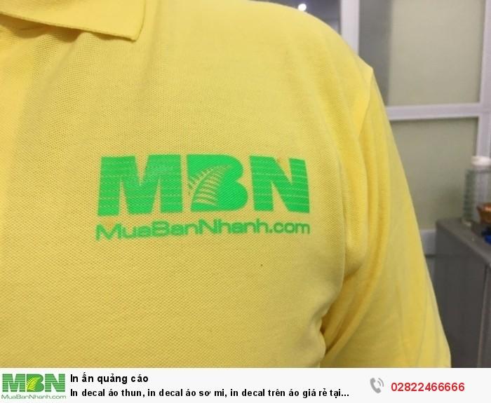 In decal áo thun, in decal áo sơ mi, in decal trên áo giá rẻ tại TPHCM