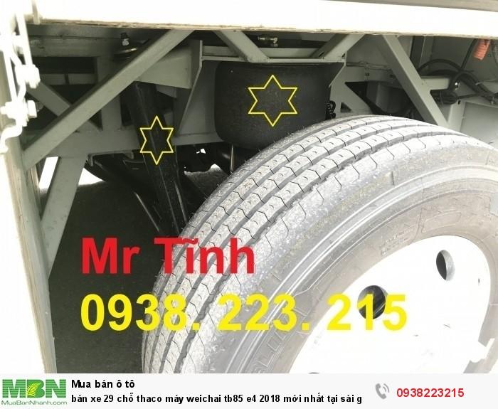 Bán xe 29 chỗ thaco máy Weichai tb85 e4 2018 mới nhất tại sài gòn 9