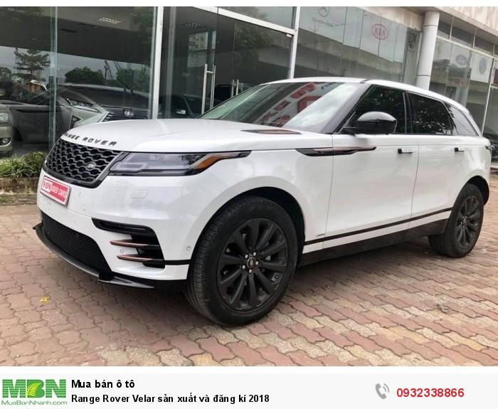 Range Rover Velar sản xuất và đăng kí 2018