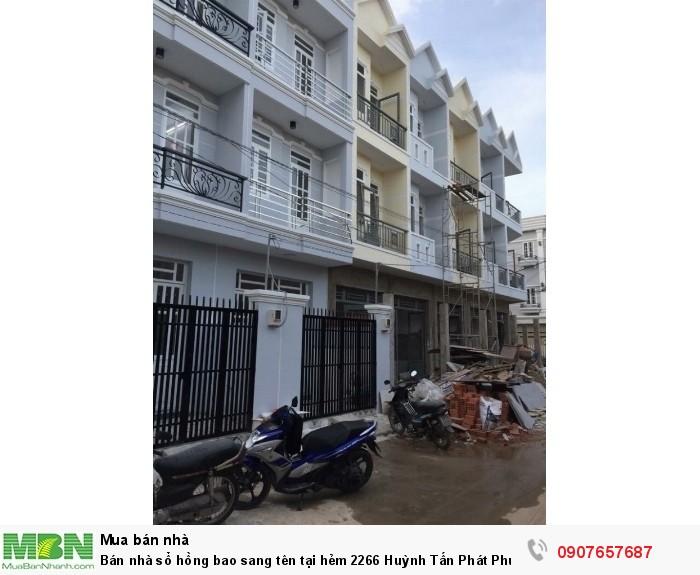 Bán nhà sổ hồng bao sang tên tại hẻm 2266 Huỳnh Tấn Phát Phú Xuân Nhà Bè 2 lầu, 4PN, hẻm 6m,