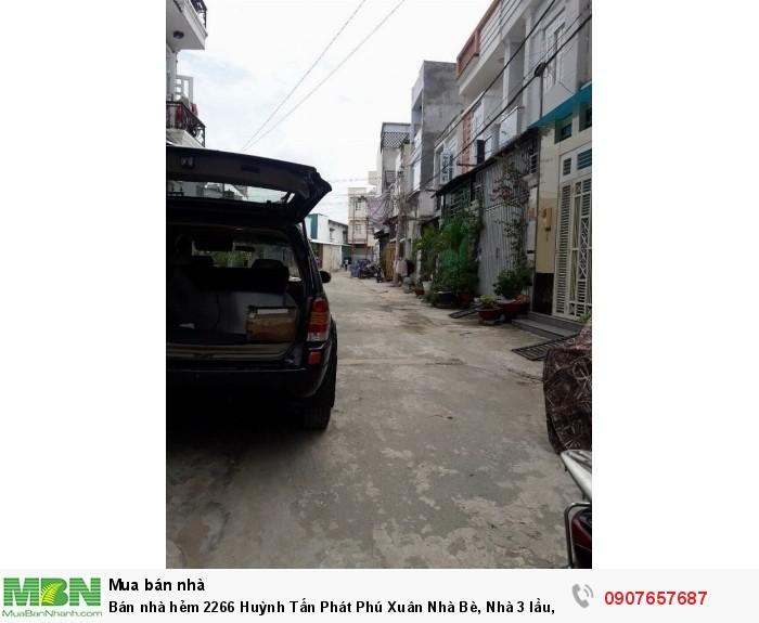 Bán nhà hẻm 2266 Huỳnh Tấn Phát Phú Xuân Nhà Bè, Nhà 3 lầu, hẻm xe hơi, giá tốt nhất tại đây.