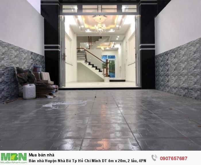 Bán nhà Huyện Nhà Bè Tp Hồ Chí Minh DT 4m x 20m, 2 lầu, 4PN, sân xe hơi
