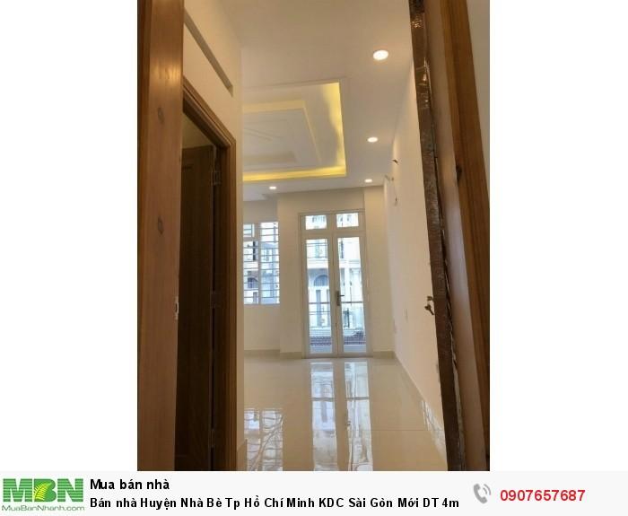 Bán nhà Huyện Nhà Bè Tp Hồ Chí Minh KDC Sài Gòn Mới DT 4m x 20m, 3 lầu, sân thượng