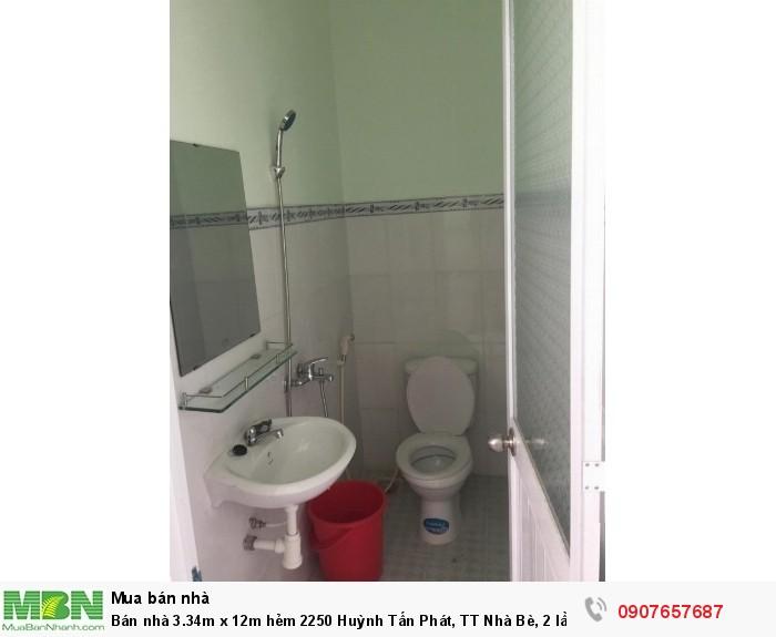 Bán nhà 3.34m x 12m hẻm 2250 Huỳnh Tấn Phát, TT Nhà Bè, 2 lầu, 4PN giá 2.1 tỷ