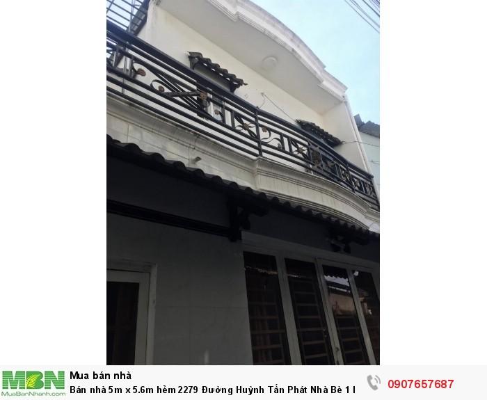 Bán nhà 5m x 5.6m hẻm 2279 Đường Huỳnh Tấn Phát Nhà Bè 1 lầu, 2PN giá 1.7 tỷ