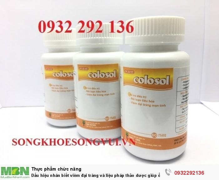 Dấu hiệu nhân biết viêm đại tràng và liệu pháp thảo dược giúp ổn định bệnh - TPCN Colosol