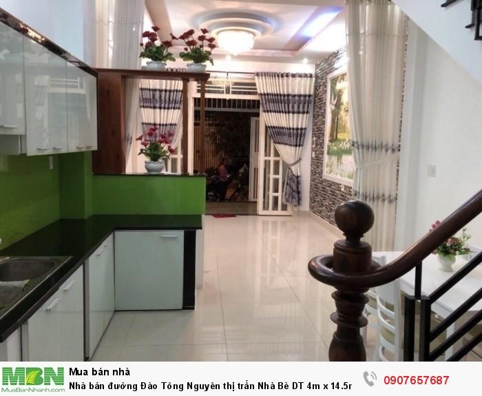 Nhà bán đường Đào Tông Nguyên thị trấn Nhà Bè DT 4m x 14.5m