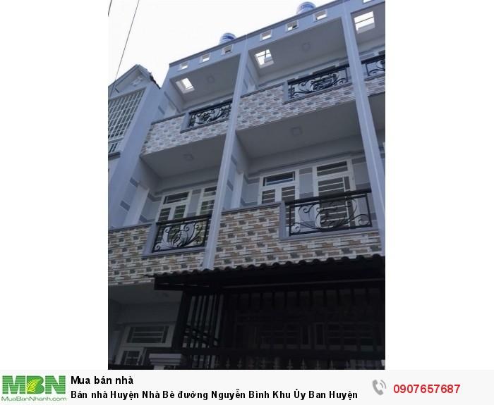 Bán nhà Huyện Nhà Bè đường Nguyễn Bình Khu Ủy Ban Huyện DT 3m x 10m, 2 lầu đúc, 4 PN, hẻm 8m, giá 1.75 tỷ.