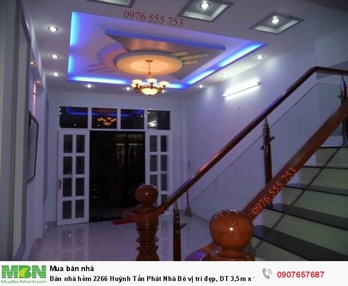 Bán nhà hẻm 2266 Huỳnh Tấn Phát Nhà Bè vị trí đẹp, DT 3,5m x 12m, 3 lầu đúc, 4 PN, sân thượng, giá 2.35 tỷ