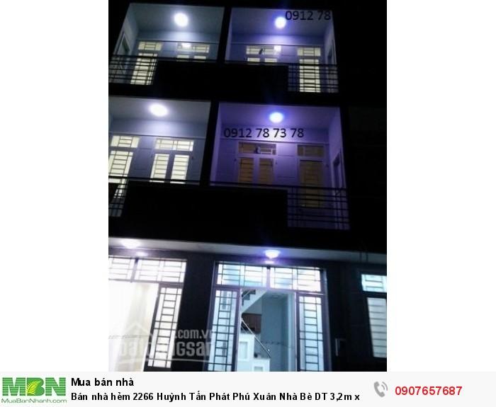 Bán nhà hẻm 2266 Huỳnh Tấn Phát Phú Xuân Nhà Bè DT 3,2m x 13m, 2 lầu, 4 PN,hẻm 6m, giá 1.9 tỷ.