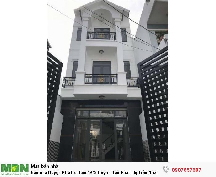 Bán nhà Huyện Nhà Bè Hẻm 1979 Huỳnh Tấn Phát Thị Trấn Nhà Bè DT 5m x 19m, 3 lầu