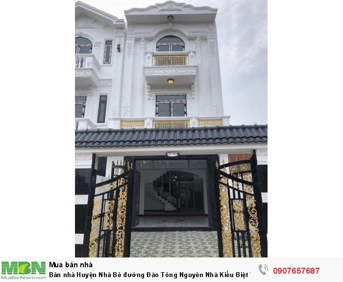 Bán nhà Huyện Nhà Bè đường Đào Tông Nguyên Nhà Kiểu Biệt Thự Bán Cổ Điển DT 5,3m x 17m