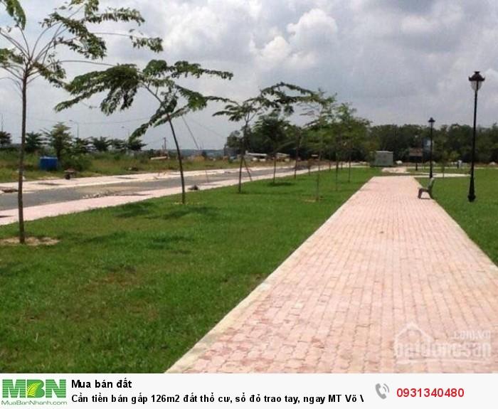Cần tiền bán gấp 126m2 đất thổ cư, sổ đỏ trao tay, ngay MT Võ Văn Kiệt,BRVT