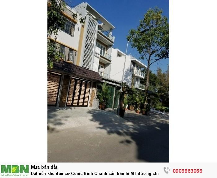Đất nền khu dân cư Conic Bình Chánh cần bán lô MT đường chính số 7, giá 37,5tr, DT 120m2, hướng TN